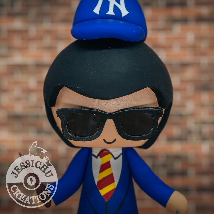 Custom Handmade Wedding Cake Topper Figurines | NY Yankees Gryffindor Harry Potter | Jessichu Creations