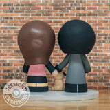 Casual Couple Custom Handmade Figurine Wedding Cake Topper | Wedding Cake Toppers | Cake Topper Gallery | Jessichu Creations