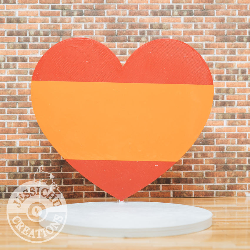 Custom Handmade Wedding Cake Topper | Large Custom Painted Heart | Jessichu Creations