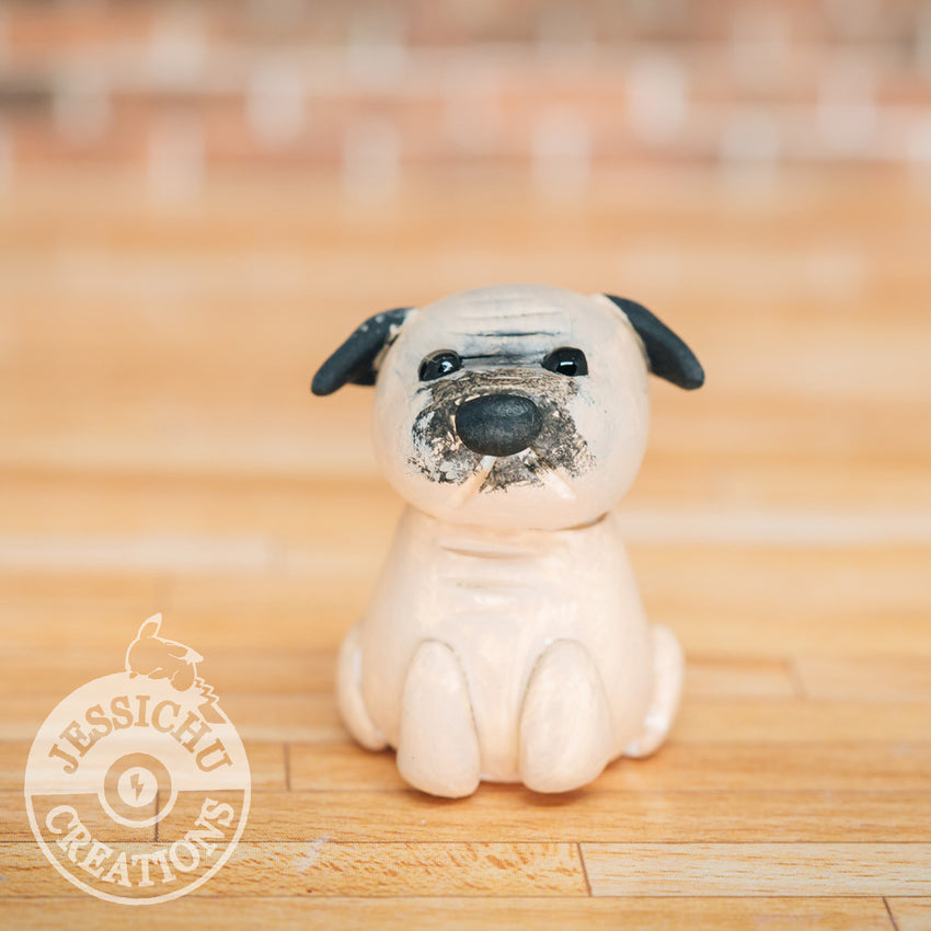 Custom Handmade Wedding Cake Topper | Pet Pug | Jessichu Creations