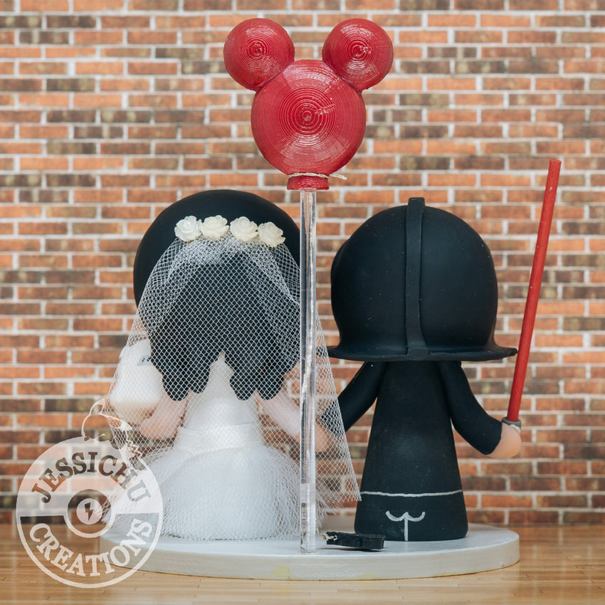 Darth Vader & Stormtrooper Couple - Star Wars Inspired Wedding Cake Topper | Wedding Cake Toppers | Cake Topper Gallery | Jessichu Creations