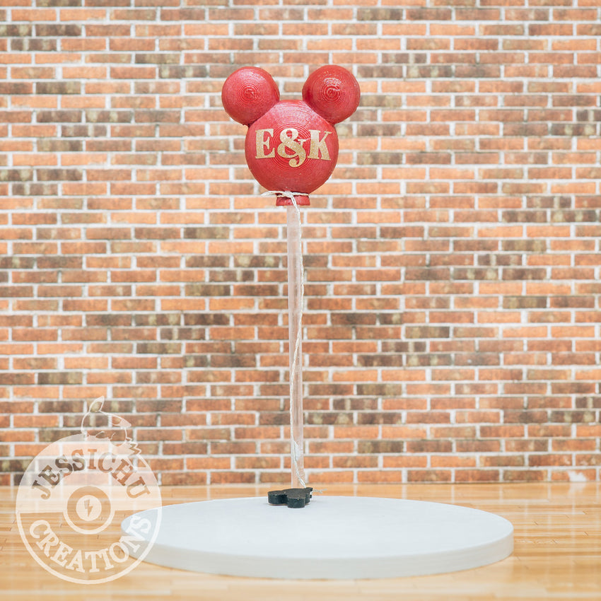 Wedding Cake Topper | Mickey Balloon Sign  Jessichu Creations
