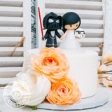 Darth Vader and Stormtrooper Wedding Cake Topper | Star Wars | Jessichu Creations