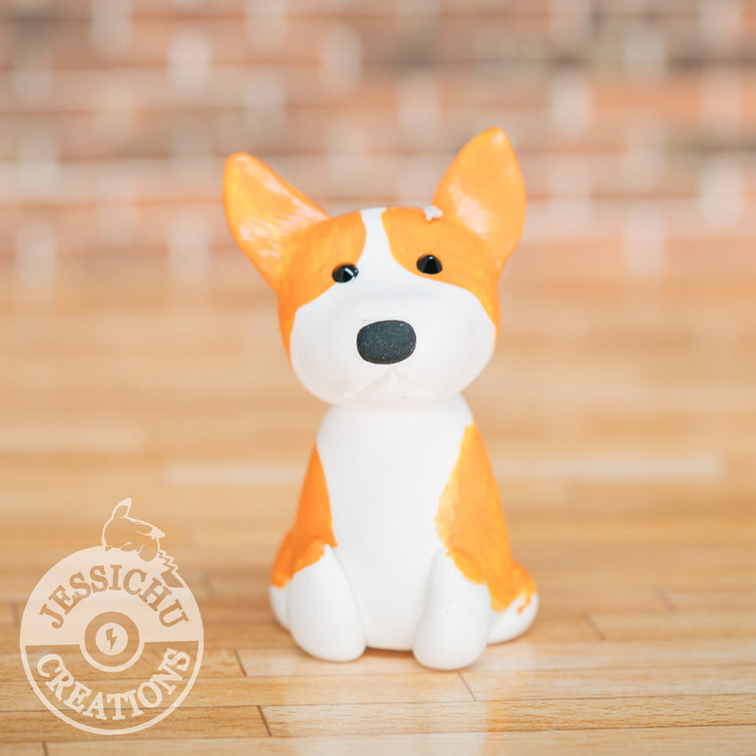 Wedding Cake Topper | Corgi | Jessichu Creations