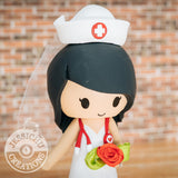 Nurse Wedding Cake Topper | Jessichu Creations