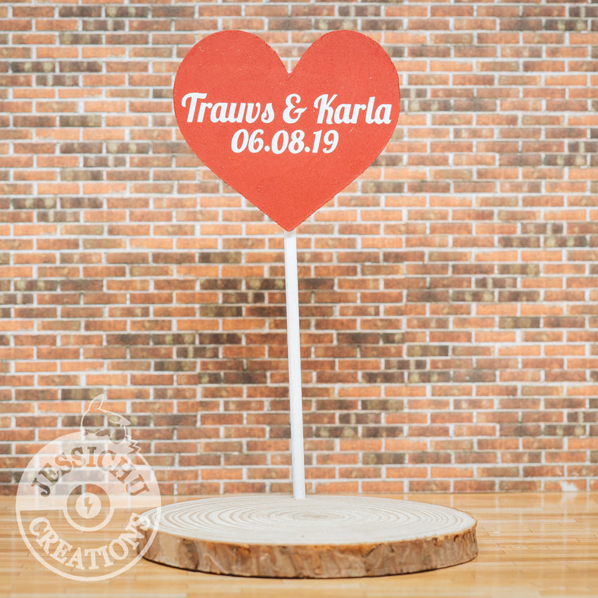 Large Heart Sign | Wedding Cake Topper | Jessichu Creations