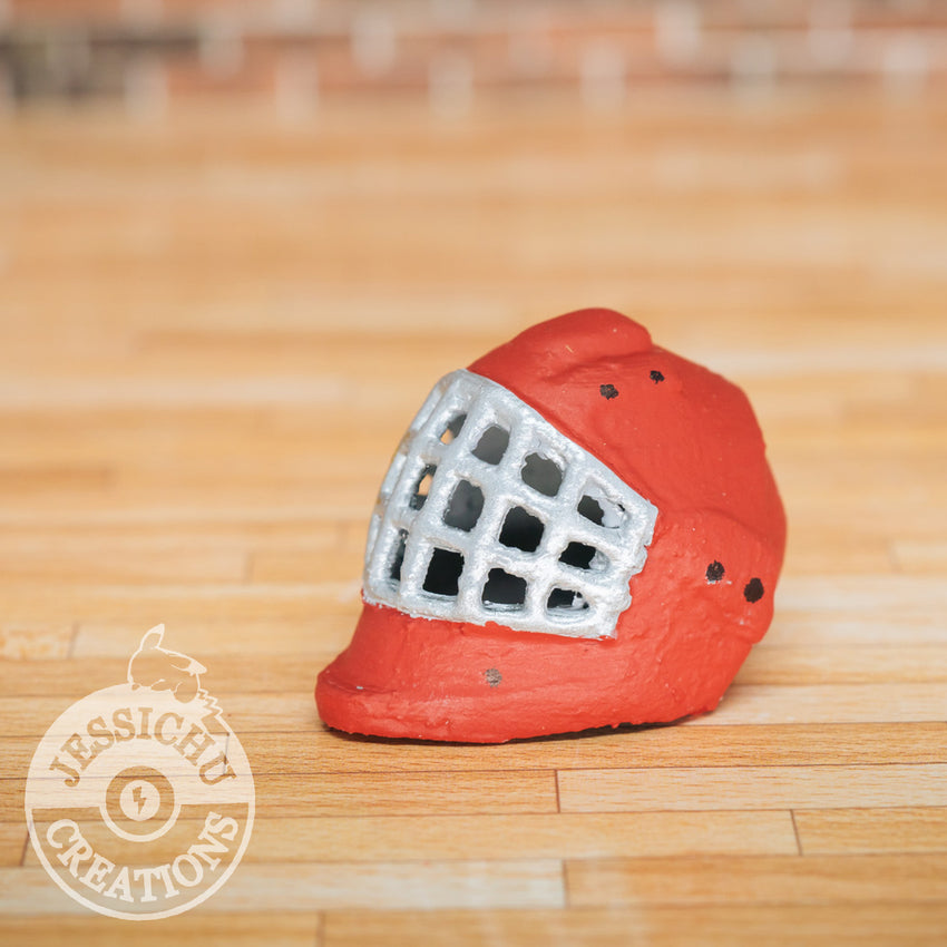 Ice Hockey Helmet Mask | Wedding Cake Topper | Jessichu Creations