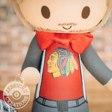 Chicago Blackhawks & Cubs Couple - Hockey x Baseball Inspired Wedding Cake Topper | Wedding Cake Toppers | Cake Topper Gallery | Jessichu Creations