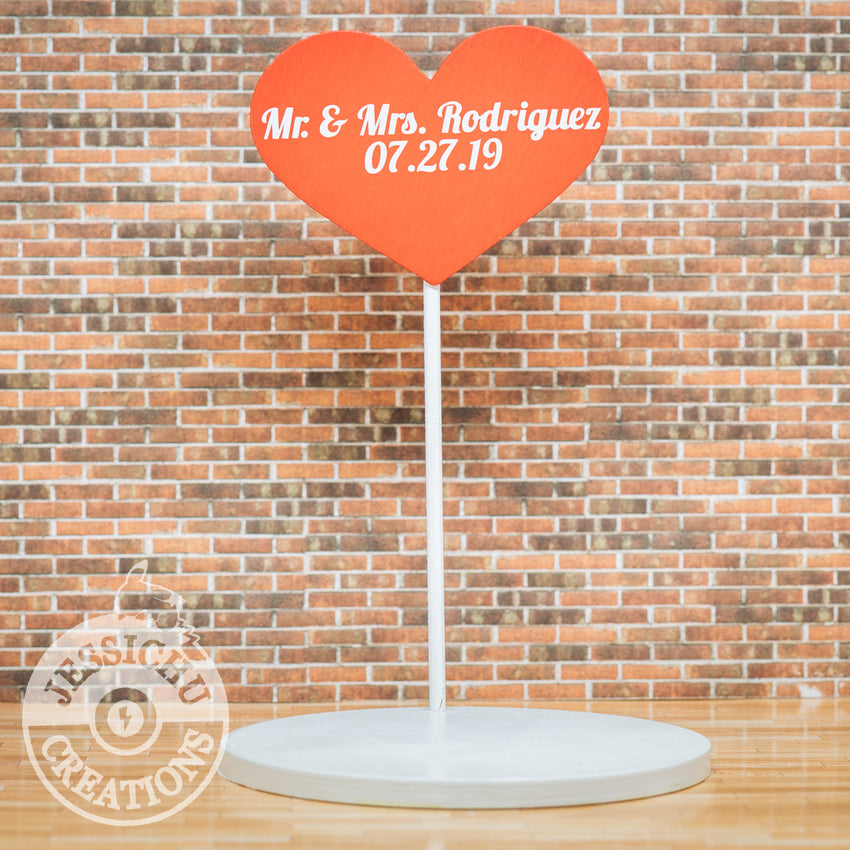 Large Herat Sign | Wedding Cake Topper | Jessichu Creations
