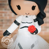 Stormtrooper Bride Wedding Cake Topper | Star Wars | Jessichu Creations