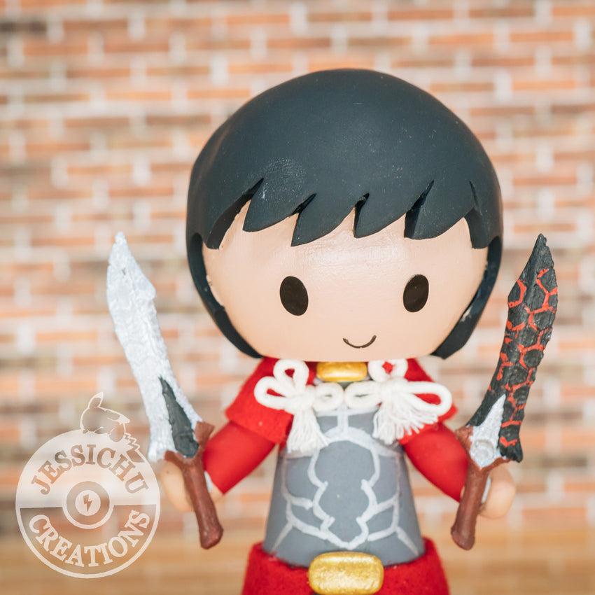 Fate Stay Night Archer Wedding Cake Topper | FSN | Jessichu Creations