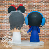 Gamer Headset Groom & Minnie Mouse Bride - Disney Inspired Wedding Cake Topper | Wedding Cake Toppers | Cake Topper Gallery | Jessichu Creations