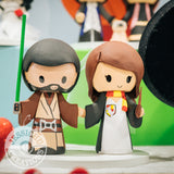 Jedi Groom & Gryffindor Bride Wedding Cake Topper | Star Wars x Harry Potter | Jessichu Creations