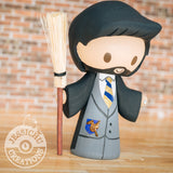 Harry Potter Quidditch Wedding Cake Topper | HP Nimbus 2000 | Jessichu Creations