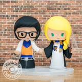 Goku and Ravenclaw Wedding Cake Topper | Dragon Ball Z x Harry Potter | Jessichu Creations