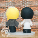Goku Groom & Ravenclaw Bride - Dragon Ball Z x Harry Potter Inspired Wedding Cake Topper | Wedding Cake Toppers | Cake Topper Gallery | Jessichu Creations