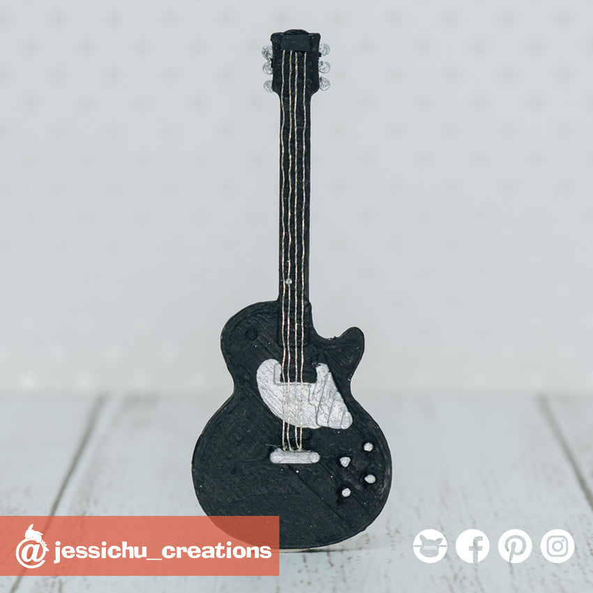 Electric Guitar | Accessories | Custom Handmade Wedding Cake Topper Figurines | Jessichu Creations