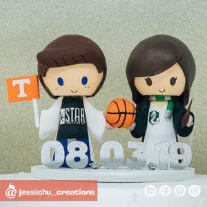 Starlab Scientist & Harry Potter Ravenclaw | DC x HP | Custom Handmade Wedding Cake Topper Figurines | Jessichu Creations