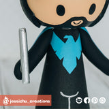 Nightwing Groom | Batman x DC | Custom Handmade Wedding Cake Topper Figurines | Jessichu Creations