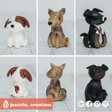 Pet Dogs | Custom Handmade Wedding Cake Topper Figurines | Jessichu Creations