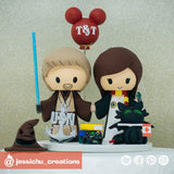 Jedi & Harry Potter Gryffindor | Sorting Hat & Toothless | Star Wars x HP | Custom Handmade Wedding Cake Topper Figurines | Jessichu Creations