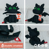 Toothless | How to Train Your Dragon | Custom Handmade Wedding Cake Topper Figurines | Jessichu Creations
