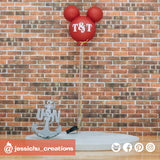 Mickey Disney Balloon | Signs | Custom Handmade Wedding Cake Topper Figurines | Jessichu Creations