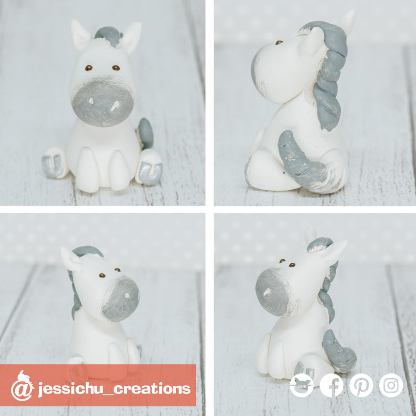 Horse | Pets | Custom Handmade Wedding Cake Topper Figurines | Jessichu Creations