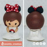 Minnie Mouse with Pokeball | Disney x Pokemon | Children | Custom Handmade Wedding Cake Topper Figurines | Jessichu Creations