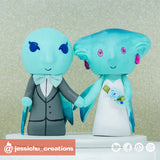 Legend of Zelda Water Zora Wedding Cake Topper | Jessichu Creations