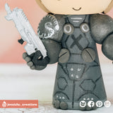 Jim Raynor | StarCraft | Custom Handmade Wedding Cake Topper Figurines | Jessichu Creations