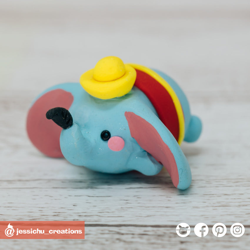 Dumbo Tsum Tsum | Disney | Custom Handmade Wedding Cake Topper Figurines | Jessichu Creations