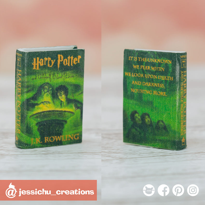 Harry Potter and the Half-Blood Prince book | HP | Accessories | Custom Handmade Wedding Cake Topper Figurines | Jessichu Creations