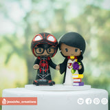 Miles Morales Spiderman & HP Gryffindor | Marvel x Harry Potter | Custom Handmade Wedding Cake Topper Figurines | Jessichu Creations