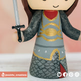 Aragorn & Arwen Inspired Lord of the Rings (LOTR) Custom Wedding Cake Topper | Wedding Cake Toppers | Cake Topper Gallery | Jessichu Creations