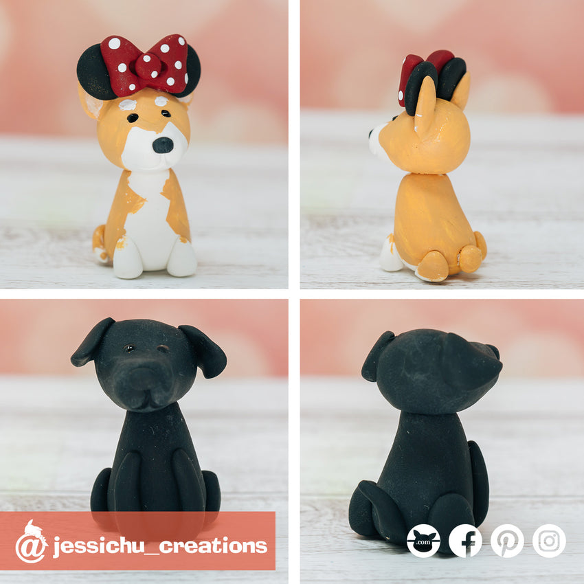 Pets Minnie Mouse | Disney | Custom Handmade Wedding Cake Topper Figurines | Jessichu Creations