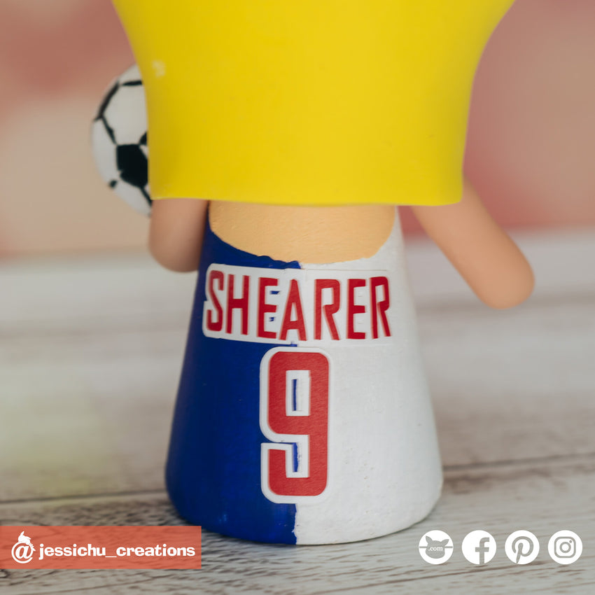 Blackburn Rovers x Shearer | Soccer  | Custom Handmade Wedding Cake Topper Figurines | Jessichu Creations