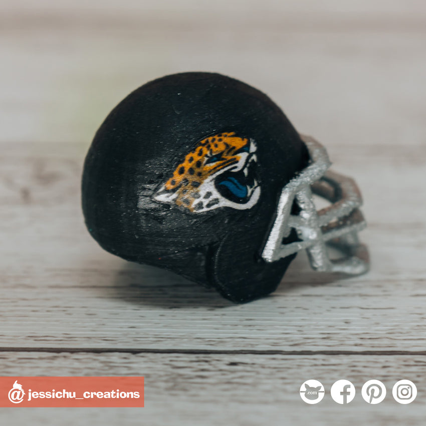 NFL x Jacksonville Jaguars Helmet | Football | Custom Handmade Wedding Cake Topper Figurines | Jessichu Creations