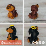 Pet Cocker Spaniels | Custom Handmade Wedding Cake Topper Figurines | Jessichu Creations