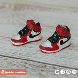 Jordan 1s Basketball Shoes | Accessories | Custom Handmade Wedding Cake Topper Figurines | Jessichu Creations