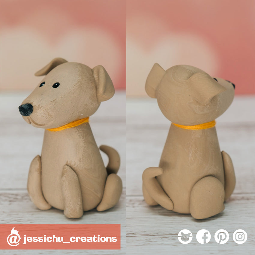 Dog | Pets | Custom Handmade Wedding Cake Topper Figurines | Jessichu Creations