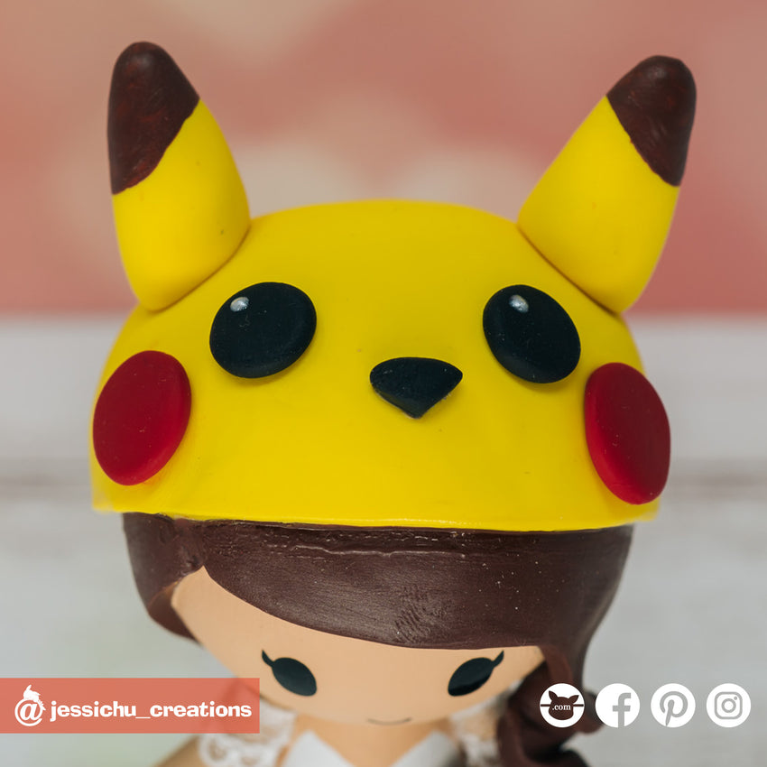 Pokemon Pikachu Beanie | Accessories | Custom Handmade Wedding Cake Topper Figurines | Jessichu Creations