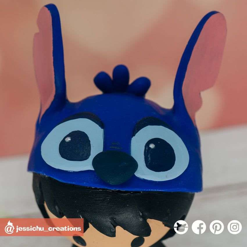 Disney Stitch Beanie | Accessories | Custom Handmade Wedding Cake Topper Figurines | Jessichu Creations