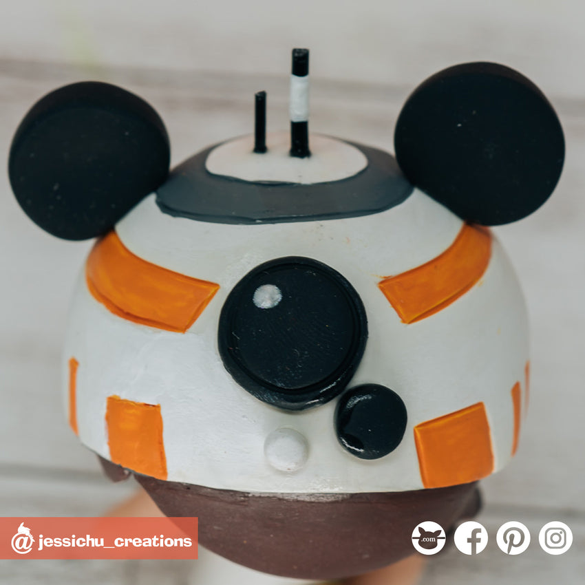 Mickey BB8 | Disney x Star Wars | Custom Handmade Wedding Cake Topper Figurines | Jessichu Creations