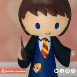 Harry Potter Gryffindor Groom | Custom Handmade Wedding Cake Topper Figurines | Jessichu Creations