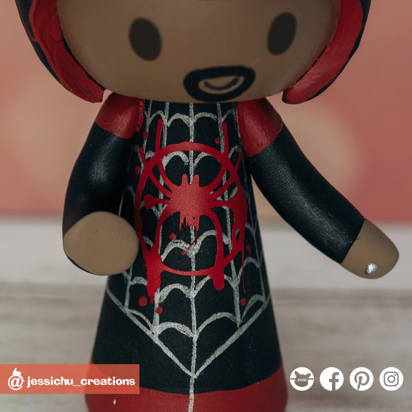 Miles Morales Spiderman | Marvel | Custom Handmade Wedding Cake Topper Figurines | Jessichu Creations