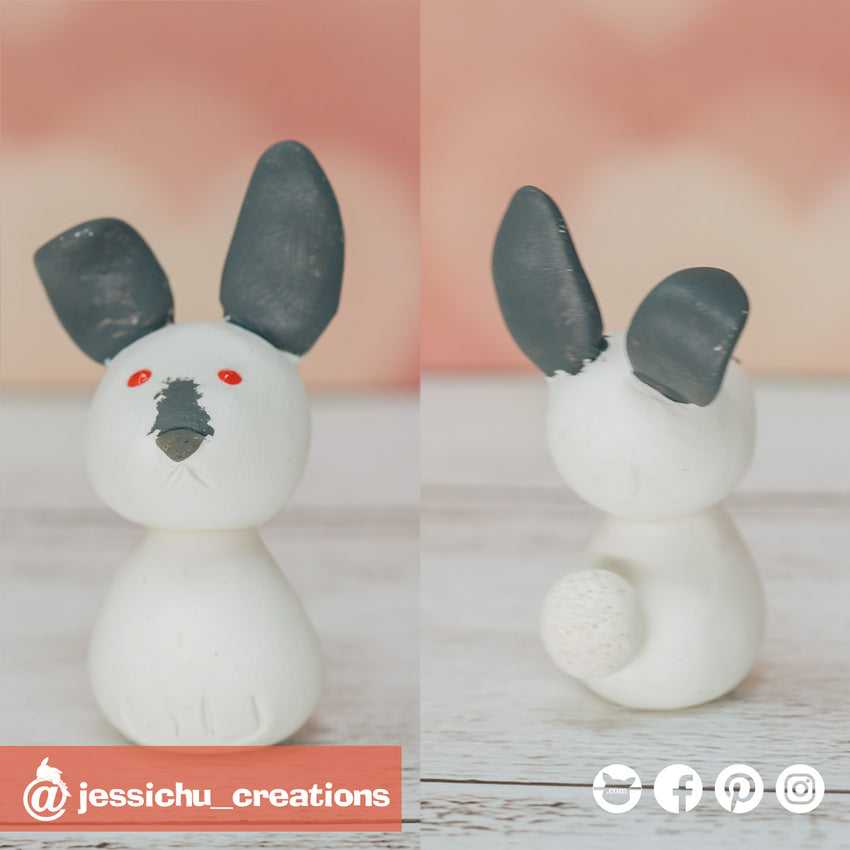 Rabbit | Pets | Custom Handmade Wedding Cake Topper Figurines | Jessichu Creations