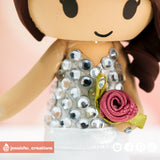 Rhinestone Top | Accessories | Custom Handmade Wedding Cake Topper Figurines | Jessichu Creations