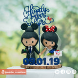 Mickey & Minnie Mouse | Disney x Pixar | Custom Handmade Wedding Cake Topper Figurines | Jessichu Creations