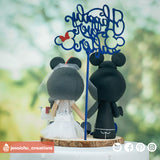 Mickey & Minnie Mouse Couple Inspired Disney Custom Handmade Figurine Wedding Cake Topper | Wedding Cake Toppers | Cake Topper Gallery | Jessichu Creations